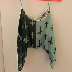 Cross crop top